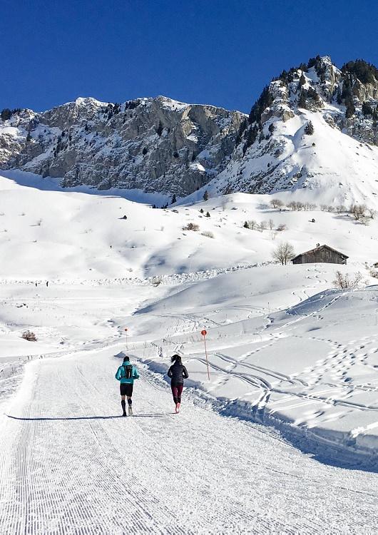 Trail blanc Praz de Lys Sommand